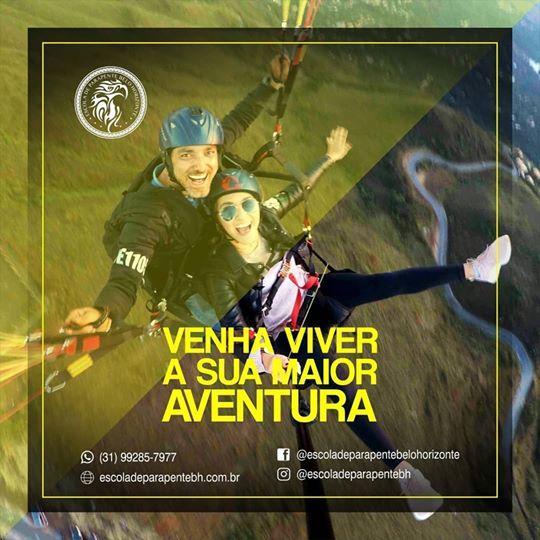 Pular de paraglider no topo do Mundo Bh