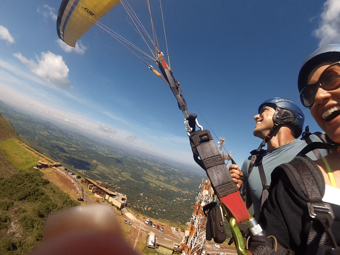 Voo Duplo de paraglider